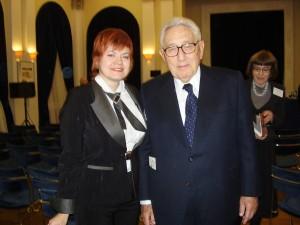 М.И. Романова и Генри Киссинджер